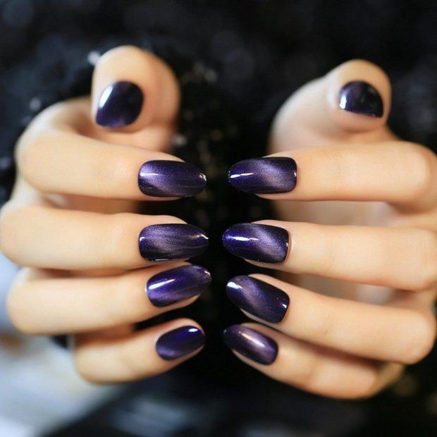 темный фиолетовый кошачий глаз
