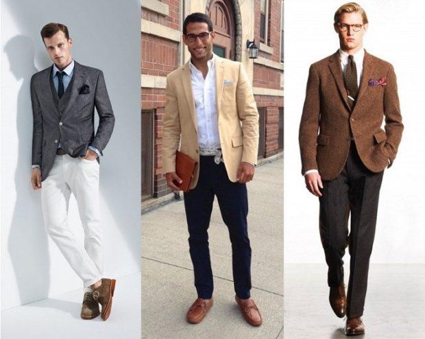 ed6ce7d70bb Модная одежда для мужчин  костюм серый пиджак белые брюки бежевый черные  коричневый