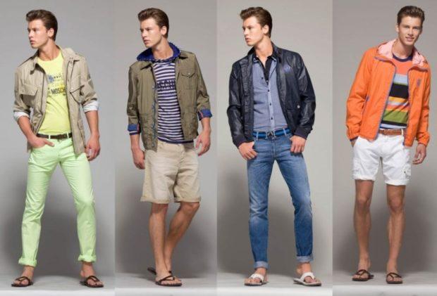 Модная одежда для мужчин: летний стиль курточки джинсы шорты