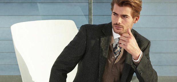 Модная одежда для мужчин: костюм тройка пиджак зеленый коричневая жилетка