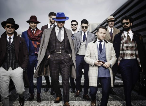 одежда для мужчин: костюмы а-ля 90