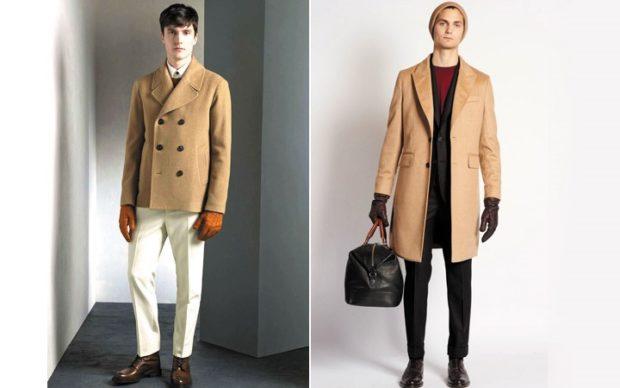 пальто короткое бежевое двубортное классика