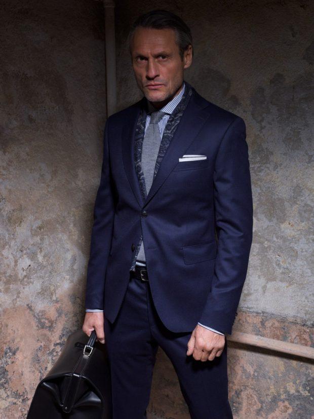 костюм классический синий