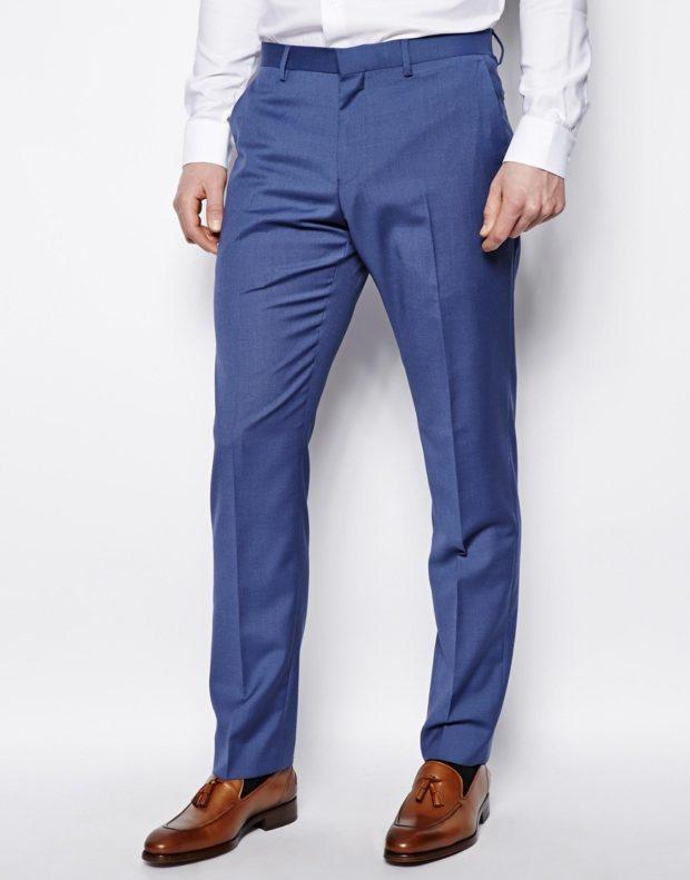 классические брюки синие со стрелками