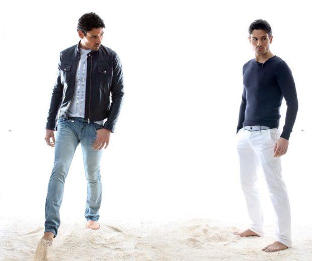 Модная одежда для мужчин 2019-2020: стиль кэжуал куртка кожаная джинсы белые штаны кофта черная