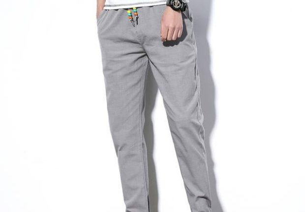 серые брюки кэжуал
