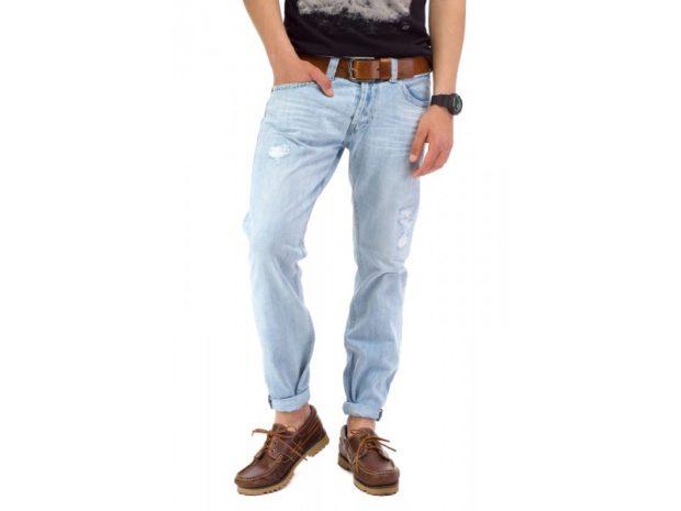джинсы светлые подкатанные