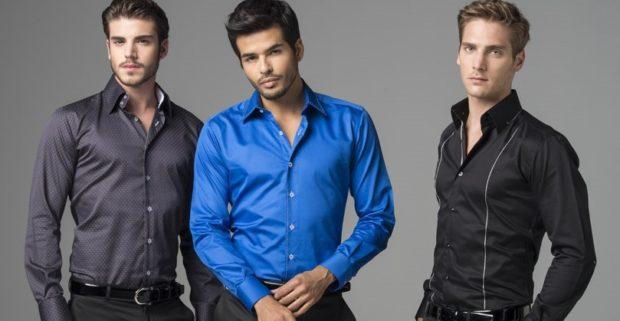 серая синяя черная рубашки