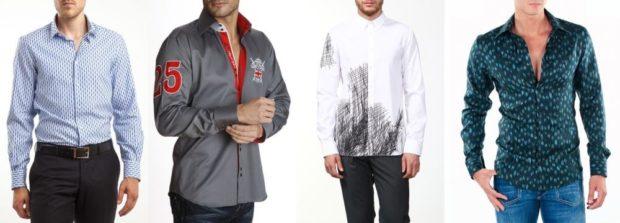 рубашка в горох серая с аппликациями белая с черным принтом