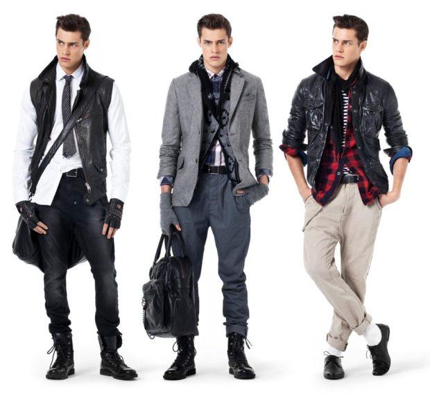 Модная одежда для мужчин 2020-2021: куртка кэжуал черная с белым серый пиджак рукав 3/4