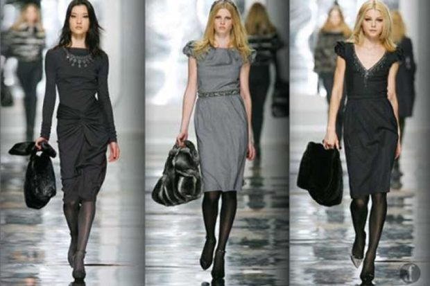 офисные платья: черное миди с длинным рукавом серое с коротким рукавом  без рукава миди