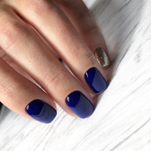 простой новогодний дизайн ногтей