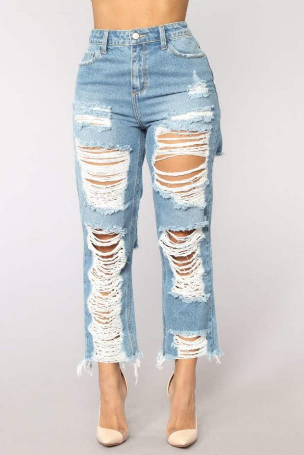 обрезанные джинсы 2018-2019