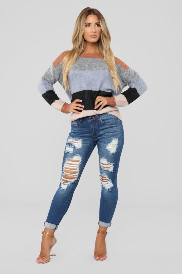 модные рваные джинсы 2018-2019