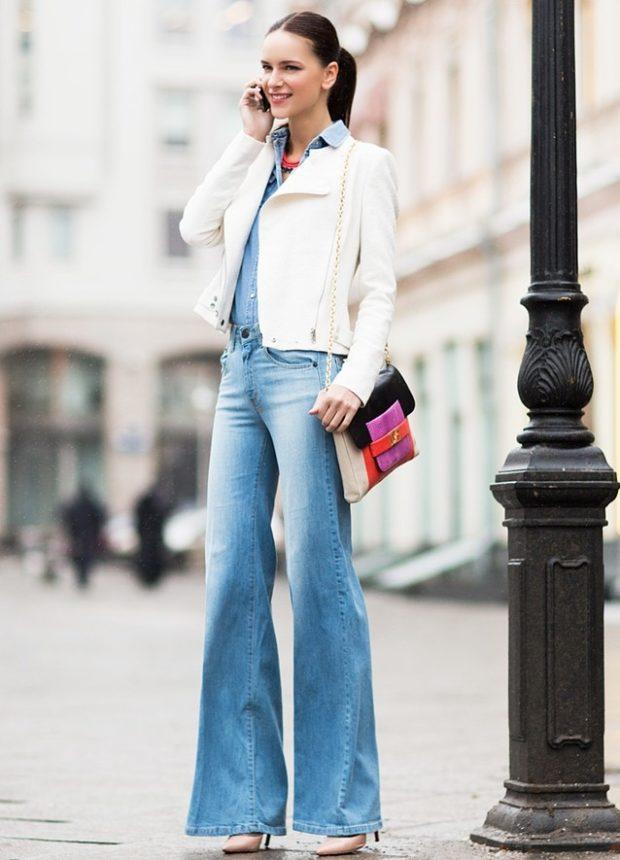 с чем носить джинсы: под пиджак