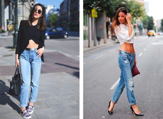 с чем носить джинсы: под топ