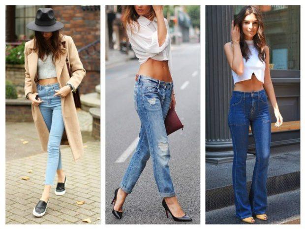 с чем носить джинсы под топ