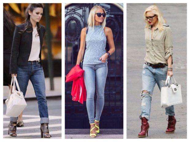 с чем носить джинсы: под каблуки
