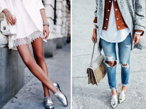 с чем носить джинсы: под лоферы