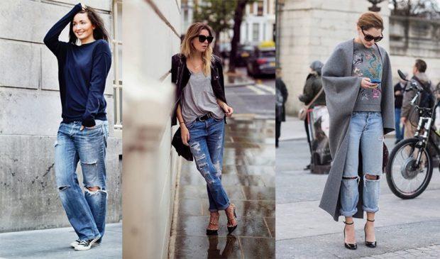 с чем носить джинсы: под босоножки на каблуке