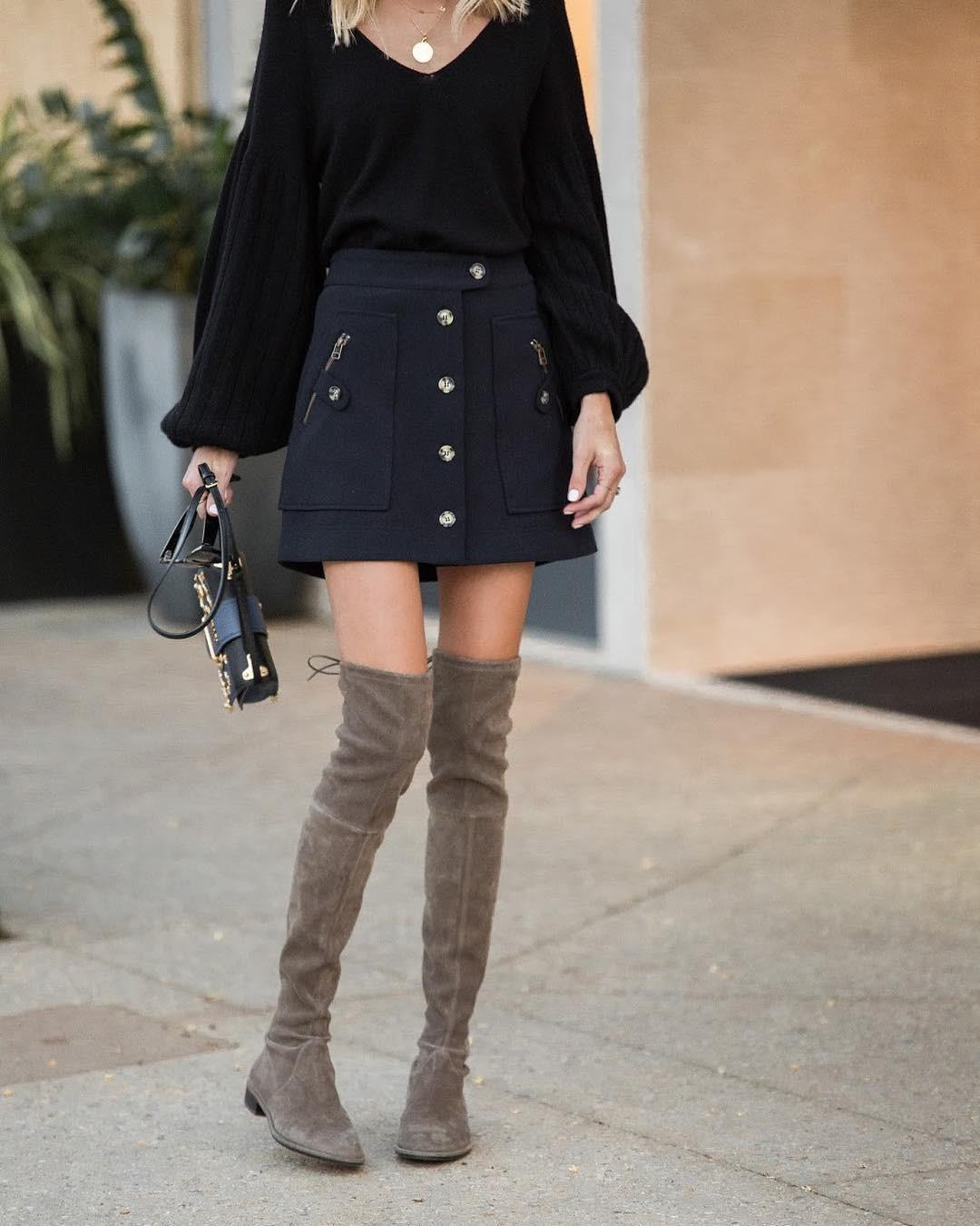 сапоги без каблука серые под юбку короткую