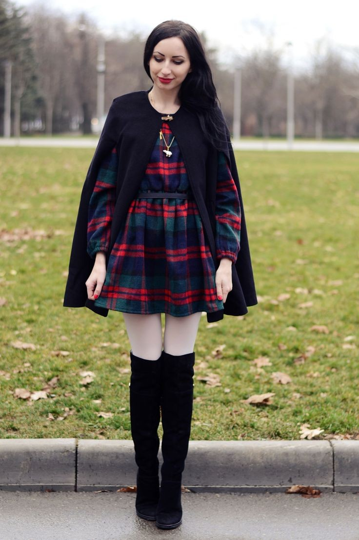 сапоги черные без каблука под пальто черное