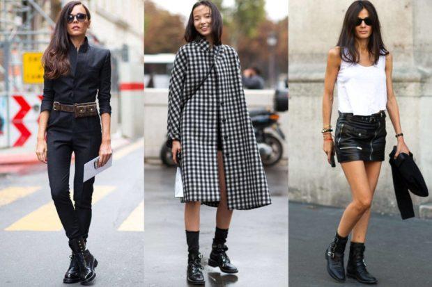 ботинки низкий ход под джинсы под платье и пальто под кожаную юбку и майку