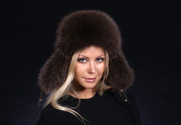 шапка ушанка коричневая осень зима 2019 2020
