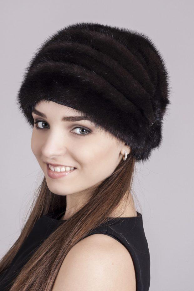 меховая шапка по голове