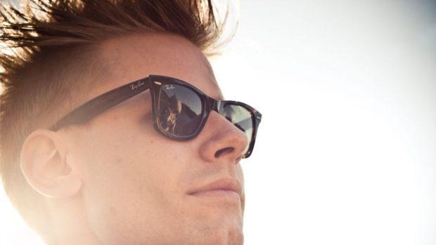 черные очки пластмассовые задратый верх