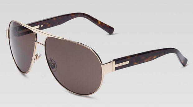 очки капли черные с золотом