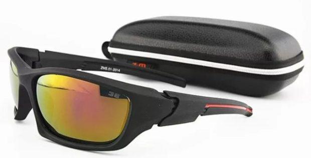 спортивные очки оранжевые хамелеоны черная оправа