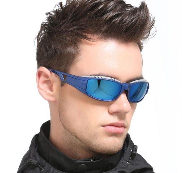 очки синие спортивные