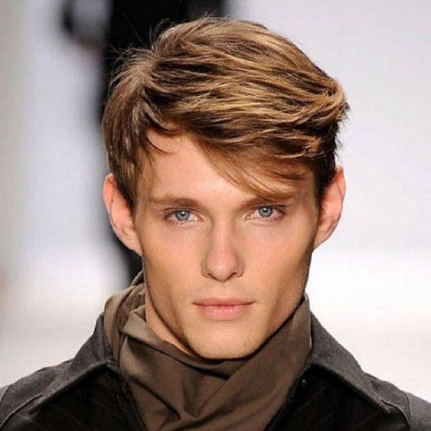 мужская стрижка волос: асимметрическая