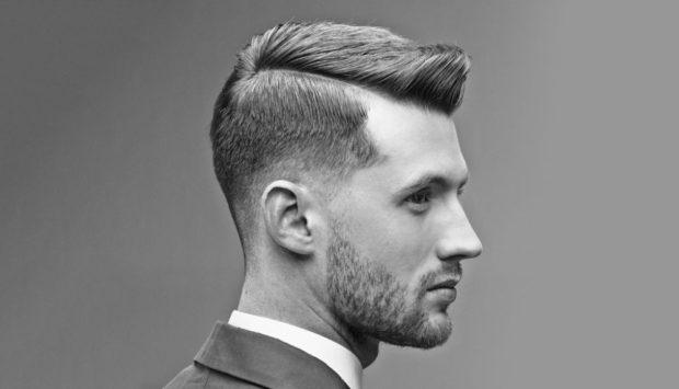мужская стрижка волос: ирокез с выбритыми висками