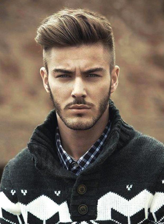 мужская стрижка волос: зачем на зад удлиненный выбритые виски