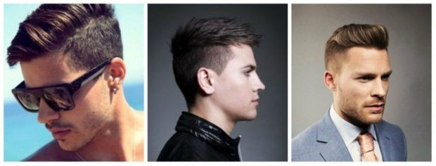 мужская прическа: Undercut на среднюю длину волос