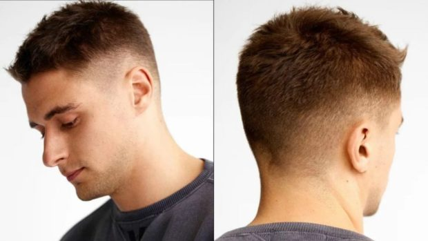 мужская стрижка волос: выбритый висок