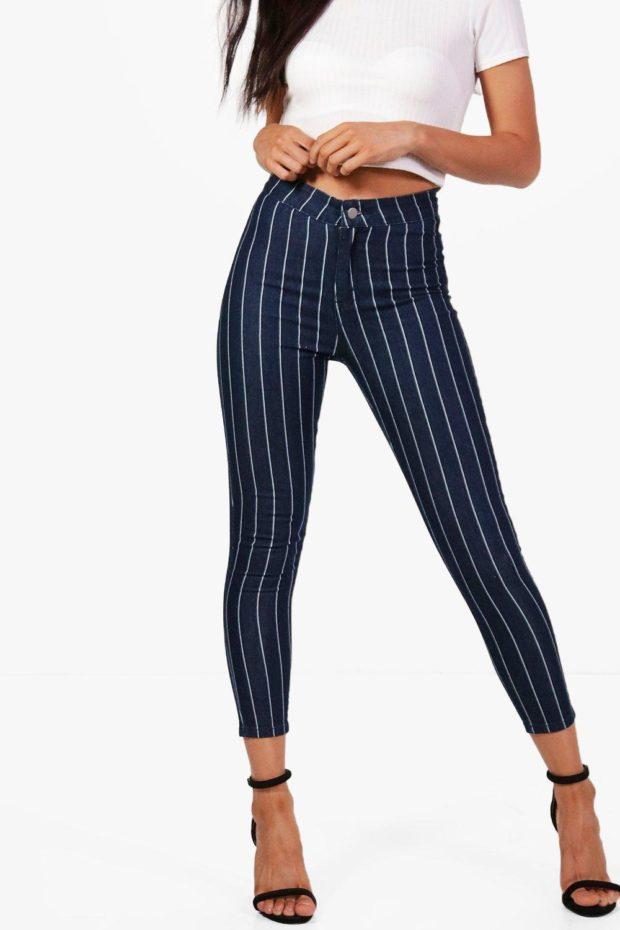 с чем носить джинсы в полоску