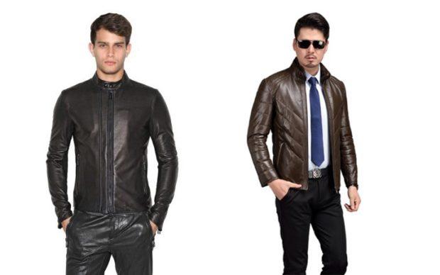мужская мода 2018 осень зима: короткие кожаные куртки черная коричневая