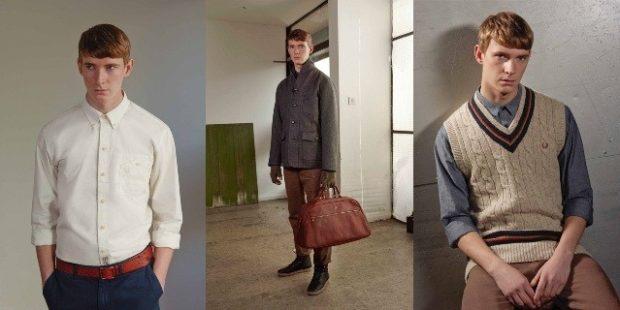 мужская мода осень-зима: рубашка брюки пальто короткое брюки коричневые