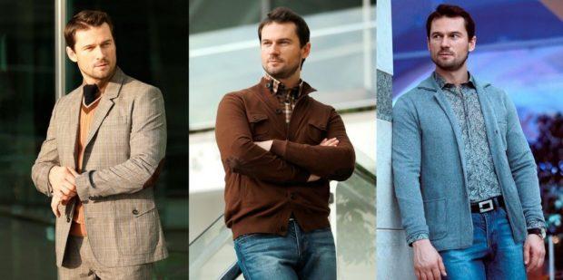 мужская мода осень-зима: пиджак в клетку светлый стиль кэжуал