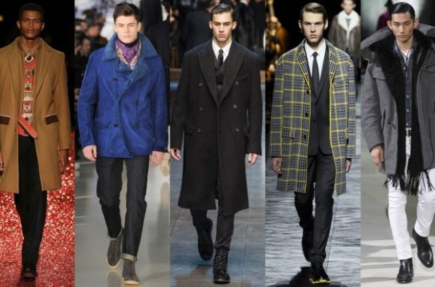 мужская мода 2018 осень зима: пальто бежевое синее черное клетка серое