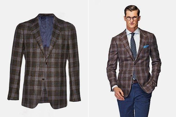 тенденции мужской моды осень-зима: пиджак в клетку