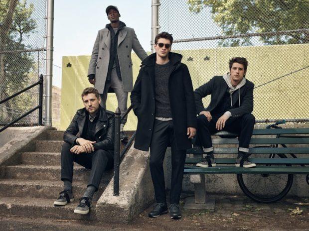 мужская мода 2018 осень зима: пальто серое черное кожаная куртка