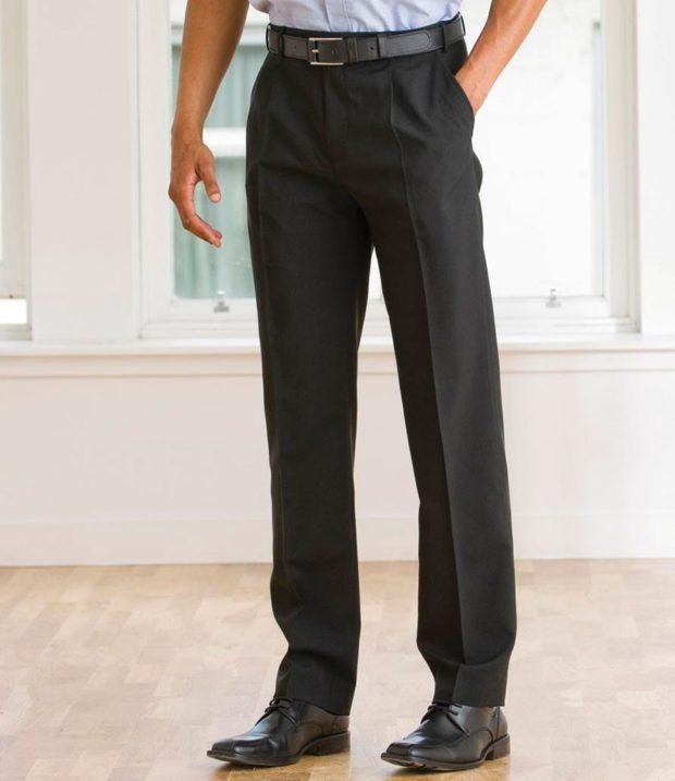 тенденции мужской моды осень-зима: брюки серые со стрелками