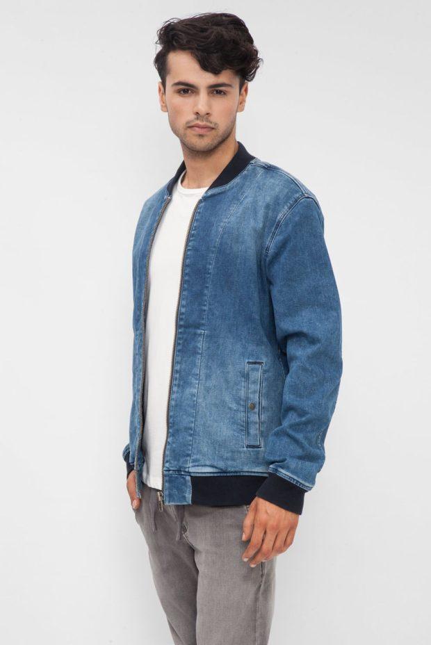 тенденции мужской моды осень-зима: куртка котоновая бомбер