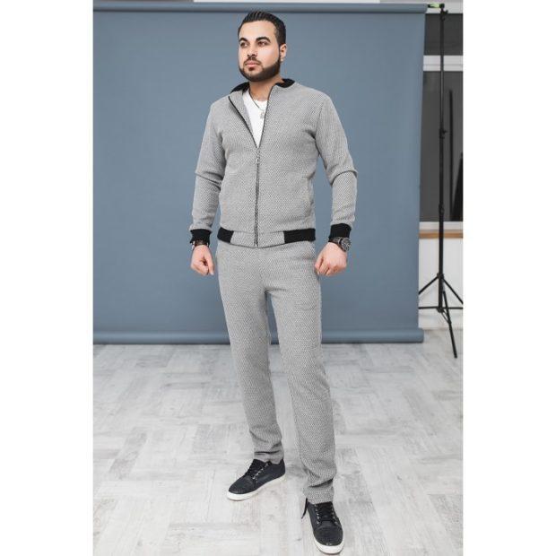 тенденции мужской моды осень зима: серый спортивный костюм