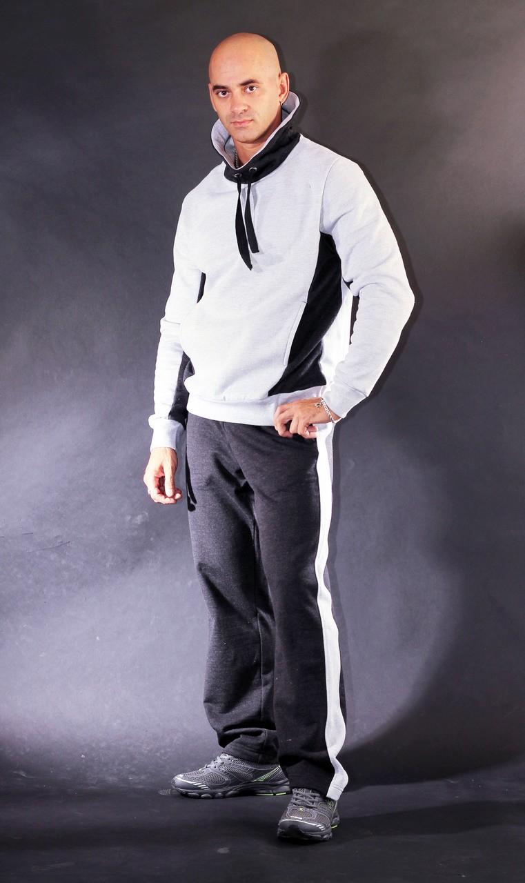 тенденции мужской моды осень зима: костюм черно-белый спортивный