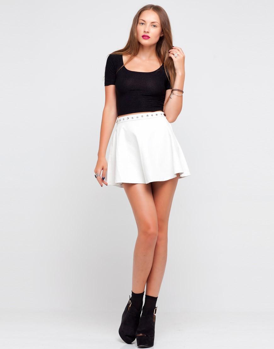 юбка белая короткая